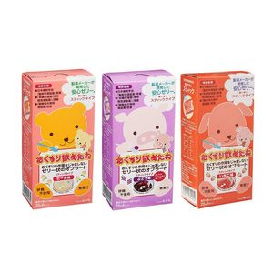 Ryukakusan Swallowing Aid Jelly (Magic Jelly) for Children Stick Type 3 flavor set