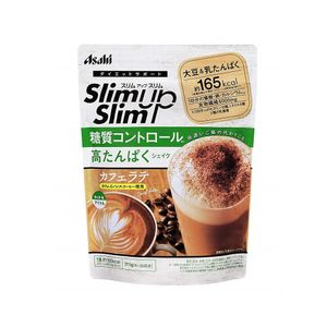 ASAHI Slim Up Slim Carbohydrate Control High Protein Shake Cafe Latte flavor 315g