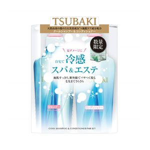 SHISEIDO TSUBAKI Cool Shampoo 450ml + Conditioner 450ml set