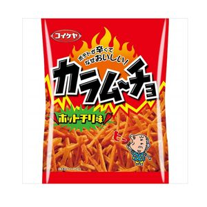 Koikeya Kara Mucho Spicy Potato Sticks with Hot Chilli 105g x 12 bags