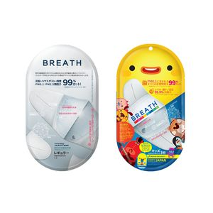 azes BREATH MASK FIT_ADULT / FIT_KIDS White 3 pieces x 2 packs