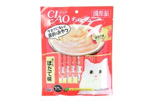 INABA CIAO Churu Cat Food (10 sachets, 2 flavors)