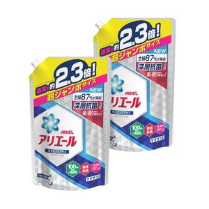 ARIEL Laundry Detergent Ion Power Gel Science Plus Refill 1.62kg 2 packs