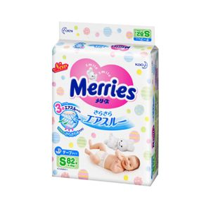 Merries Sarasara Air-through Tape-Type Diapers 82 pieces S