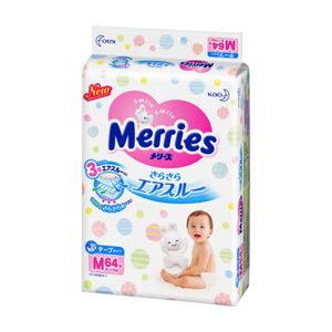 Merries Sarasara Air-through Tape-Type Diapers 64 pieces M