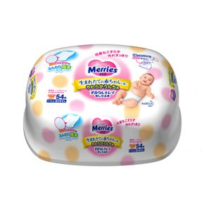 Merries Baby Wipes 54 Sheets