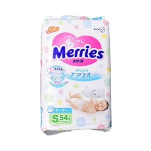 Merries Sarasara Air-Through Tape-Type Diapers 54 Pieces S