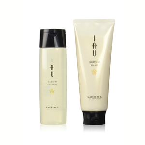 LEBEL IAU Serum Cleansing Shampoo and Cream Treatment Set 200ml