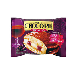 Lotte choco pie rum raisin 6pieces