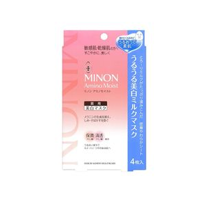 MINON Amino Moist Whitening Milk Mask 20ml x 4 sheets