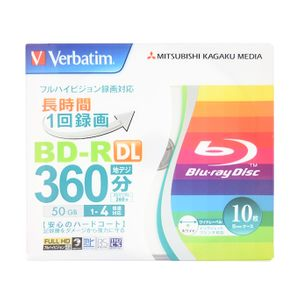 Mitsubishi Verbatim BD-R DL 360 Minutes 50GB Blu-ray 10 Discs