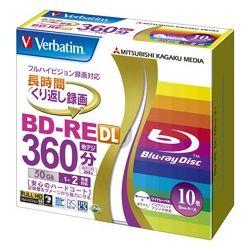 MITSUBISHI Verbatim 50GB 2 x Speed BD-RE Blu-ray Re-Writable 10 disks