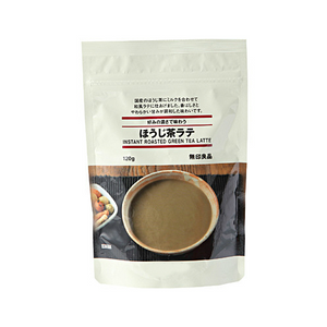 MUJI instant roasted green tea latte 120g