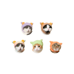 neko no kaburimono headdress for cat -sheep- 5pcs set