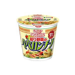 Nissin Cup Noodle Pasta Style Colored vegetables Peperoncino 90g 12pieces