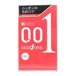 OKAMOTO Zero One Condom 0.01mm 3 pieces