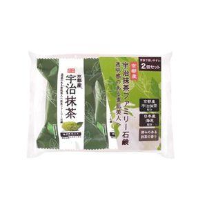 PELICAN SOAP Family Uji Matcha Green Tea Soap 80g 2 pieces