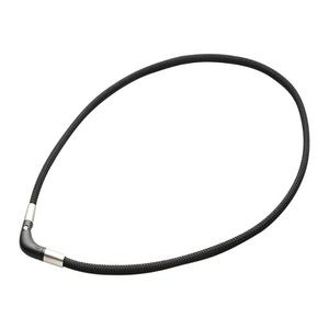 Phiten RAKUWA Magnetic Titanium Neck V Type Black 50cm
