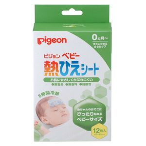 PIGEON Baby Adhesive Cooling Sheet for Fever 12 sheets