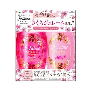 KOSE Je laime Amino Sakura Fantasy Shampoo 500ml & Treatment 500ml Set