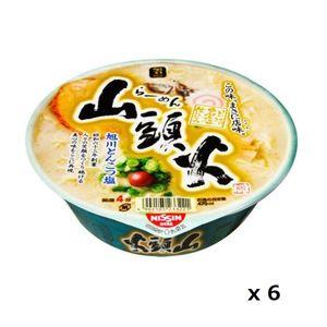Santouka Instant Cup Noodle Asahikawa Tonkotsu Salt Ramen 136g 6 Cups