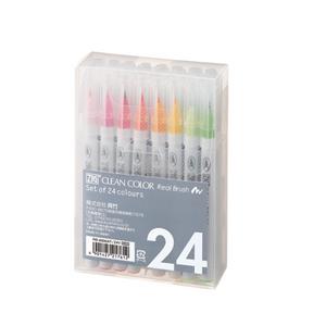 KURETAKE ZIG Clean Color Real Brush Pen Set 24color RB-6000AT/24V