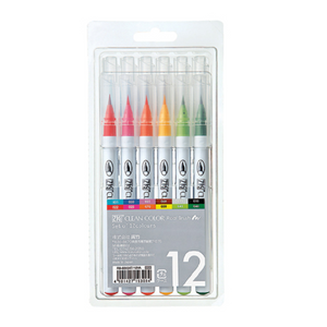KURETAKE ZIG Clean Color Real Brush Pen Set 12color RB-6000AT/12VA