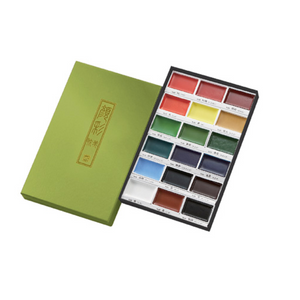 KURETAKE Gansai Tambi 18-Color Watercolor Set MC20/18V