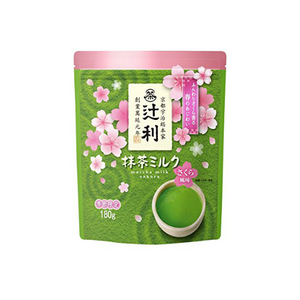 Tsujiri matcha milk with sakura powder 180gx2pack