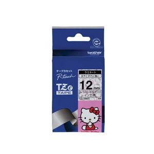 brother TZe Tape Hello Kitty Whtie Tape / Black Ink 12mm TZe-HW31