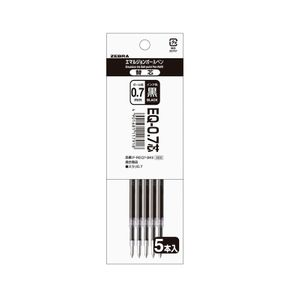 ZEBURA SURARI Emulsion ballpoint pen 0.7mm Refill EQ-0.7 5pieces 3colors