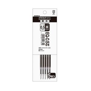 ZEBURA SURARI Emulsion ballpoint pen 0.5mm Refill EQ-0.5 5pieces 3colors