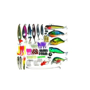 Lure worm Various 100 pieces Bath Fishing gear set  21 x 11 x 4 cm