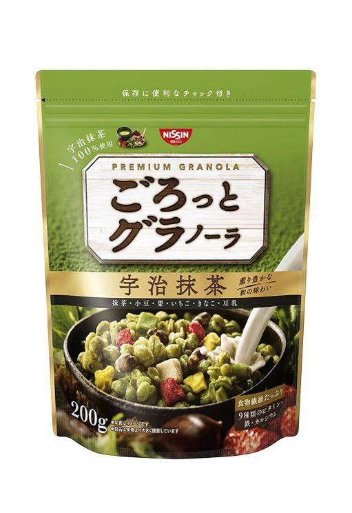 NISSIN fruit granora green tea 200g