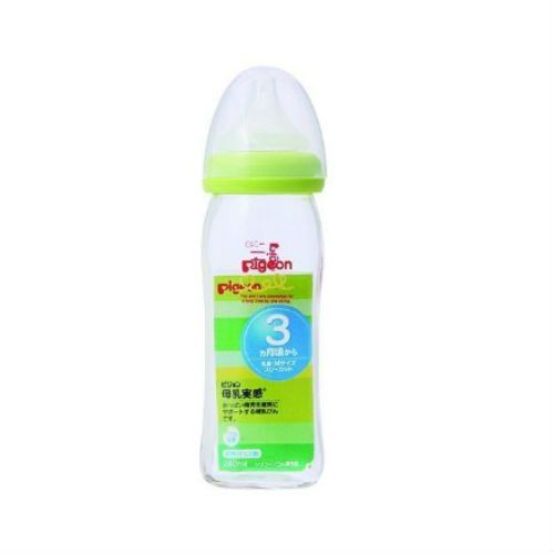 Pigeon Bonyu Jikkan Glass Baby Bottle 240ml